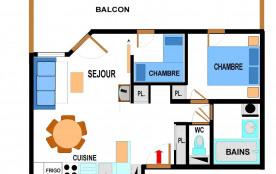 Appartement 3 pièces 6 personnes (A64)