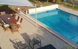piscine chauffée terrasse tente solaire