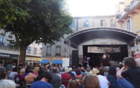 festival de jazz à Crest,près de  son donjon le plus haut de France