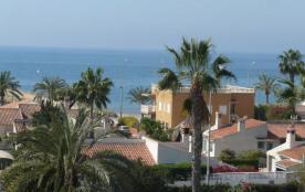Location de vacances à Santa Pola, Alicant, Espagne. Vue sur mer.