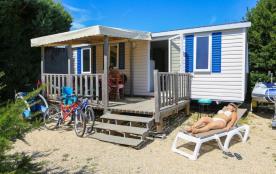 Mobil home 2 chambres vue mer camping de cromenach à ambon bord de mer à côté damgan