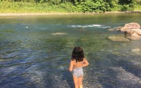 photo de la rivière au bas de la maison