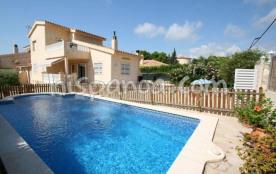 Location villa Costa Dorada - villa avec piscine protégée et cloturée