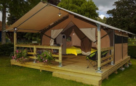 Flower Camping Les Capucines - Lodge Victoria 30 m² (2 chambres) + terrasse couverte