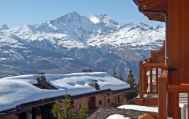 LES ARCS 1800. Résidence 4****. Appart style chalet. Vue panoramique sur montagnes et vallée. Parking couvert gratuit.