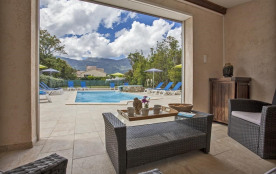 Villa pour 8 pers. avec piscine, Pietracorbara
