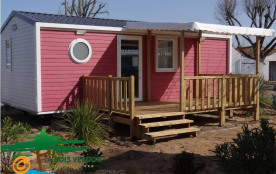 Mobil-Home O'Hara , NEUF ou RECENT, 4/6 pers, 26m², terrasse bois semi-couverte, piscine couverte, camping ***
