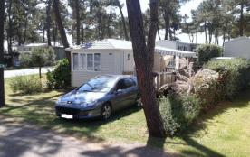 MOBIL HOME LOUISIANE modèle Charleston premium  42 m2  4/6 P  village de vacances 4 étoiles SIBLU -BONNE ANSE PLAGE-
