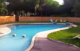 Lgt 120m² avec jardin privé 300m² sur parc 2Ha avec piscine à Argelès sur mer