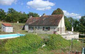 propriété privée belle maison calme en pierre 8/9 pers  piscine vue vallée entre rocamadour et sa...