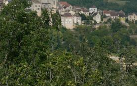 vue sur le village depuis le balcon