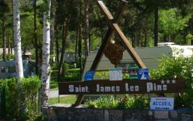 Camping Chalets Résidentiels SAINT JAMES LES PINS, 114 emplacements, 23 locatifs