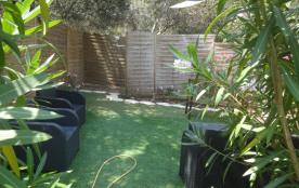 jardinet avec espace détente (transats)