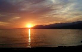 coucher du soleil vu de la terrasse