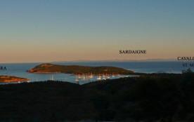 Vue Rondinara Sardaigne le soir