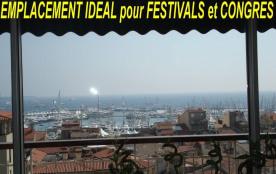 apt luxe 2 à 6 pers 300 m Palais FIF et Congrès port, plages,shoping,restaurants vue magnifique
