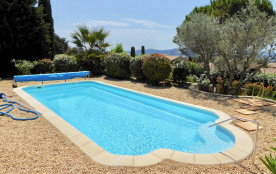 Villa AMANDINE, belle vue, piscine privée, jardin clôturé, Wi-Fi, BBQ, air conditionné, terrain de pétanque, parking