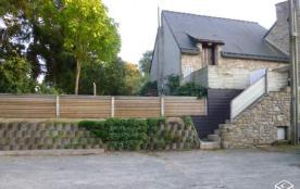 escalier pour l'accès par la terrasse à la location