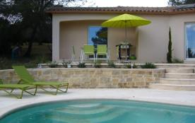 villa récente avec piscine à débordement