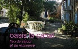 L'Oasis, gîte situé dans une bâtisse rénovée, mitoyen au propriétaire et à 2 appartements, sur pr...