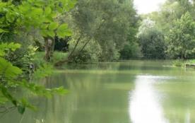 maison de plain pied pour 2 personnes avec vue sur l'étang privé de la propriété en meuse - Sampigny