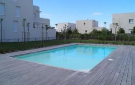 Deux pièces dans résidence avec piscine