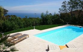 Maison vue mer panoramique avec piscine privée et chauffée