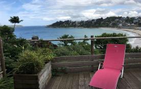 Appartement belle vue mer surplombant la baie de Trestraou.