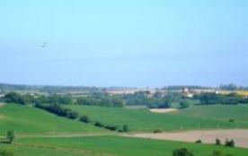 Vue sur village de Cazaux