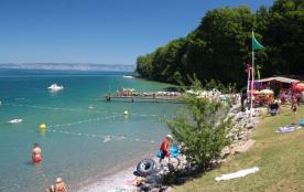 La plage au pied des alpages ...