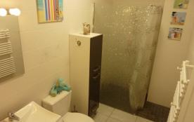 Salle d'eau avec grande douche au fond