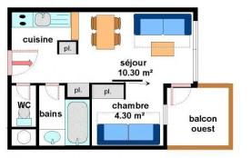 Appartement 2 pièces 4 personnes (A015)