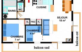Appartement 3 pièces 6 personnes (008)