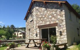 Chalet en pierre avec jardin, navette gratuite pour skier à Pyrénées 2000/Font-Romeu