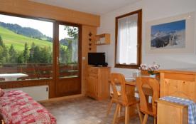 Appartement 2 pièces de 28 m² environ pour 5 personnes, située au cœur du village, à 200 m des pi...