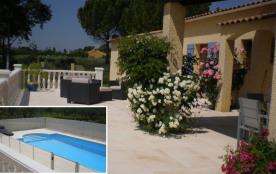 A la campagne, au calme, sur un terrain de 2500 m² clos planté d'oliviers, villa provençale de pl...