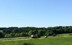 Les travaux des champs de la ferme BIO environnante