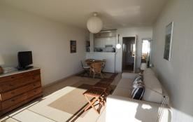 le coin salon, canapé Poltrone sofa, téléviseur SONY LED HD DVD et WIFI.