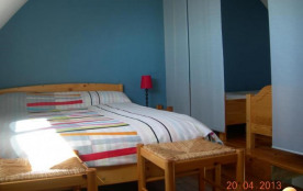 chbre  lits séparés par rideaux japonnais