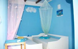Gîte Goyave chambre avec deux lits simples