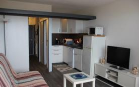 Appartement studio cabine situé au premier étage de la résidence en bordure directe de la plage s...