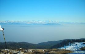 vue sur le Mont Blanc depuis la Dôle