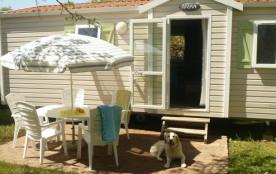 Camping LE CLOS DE LA LERE - Mobil home n°1 28m² + 15 m² terrasse semi-couverte