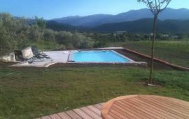 terrasse RDJ piscine oliveraie mitoyenne