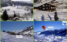 Praz sur Arly massif Mont Blanc bel appart 4 personnes PIED DES PISTES