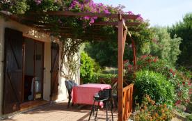 appartement T3 indépendant  en rdc de villa avec jardin  privatif ,vue mer