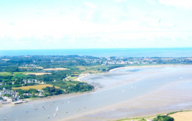 L'estuaire de la Vilaine, vue aérienne au dessus de Kernéjeune