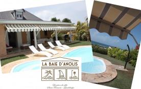 Villa label 4* 4 clé vacances plage raisins clairs Saint François Guadeloupe