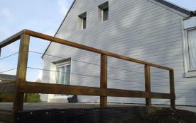 Vue avec la terrasse de 25 m2