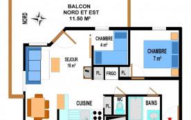 Appartement 3 pièces 6 personnes (B21)